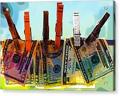 Money Laundering  Acrylic Print