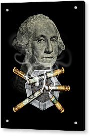 Money Up In Smoke Acrylic Print