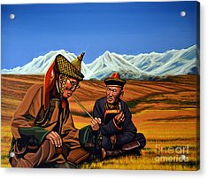 Mongolia Land Of The Eternal Blue Sky Acrylic Print by Paul Meijering
