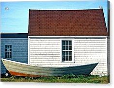 Acrylic Print featuring the photograph Monhegan Boat by AnnaJanessa PhotoArt
