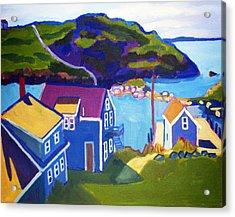 Monhegan Harbor Acrylic Print by Debra Bretton Robinson