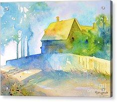 Acrylic Print featuring the painting Monhegan Island Morning by Jo Lynch