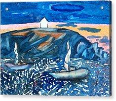Monhegan Sunset Acrylic Print by Patricia Bigelow