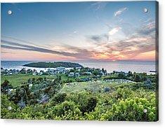 Monhegan Sunset Acrylic Print by Tim Sullivan