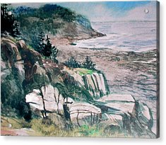Monhegan Trail Acrylic Print by Don Getz