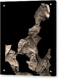 Monk Encounters His Dragon Acrylic Print by Peter Cutler