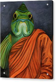 Acrylic Print featuring the painting Monk Fish by Leah Saulnier The Painting Maniac