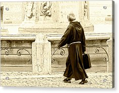 Acrylic Print featuring the photograph Monk by John Hix