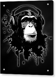 Monkey Business - Black Acrylic Print