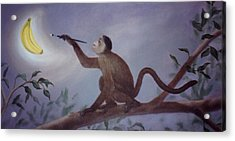 Monkey In The Moonlight Acrylic Print