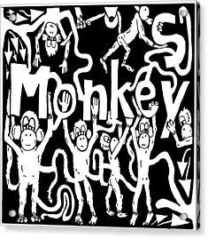 Monkeys Maze For M Acrylic Print by Yonatan Frimer Maze Artist
