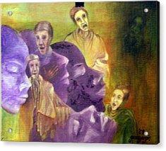 Monks In Dream Acrylic Print by Gonca Yengin