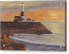 Monntauk Lighthouse Sunset Acrylic Print
