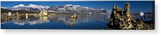 Mono Lake Pano Acrylic Print by Wes and Dotty Weber