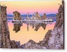 Mono Lake Through A Tufa Frame Acrylic Print