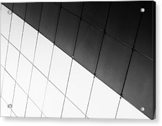 Monochrome Building Abstract 3 Acrylic Print by John Williams