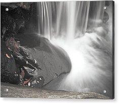 Monochrome Falls Acrylic Print by Jim DeLillo