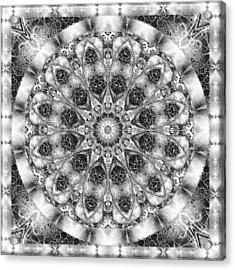 Monochrome Kaleidoscope Acrylic Print by Charmaine Zoe