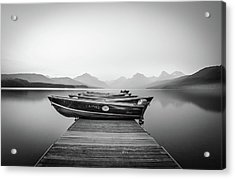 Monochrome // Lake Mcdonald, Glacier National Park Acrylic Print