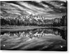 Monochrome Magic In The Tetons Acrylic Print