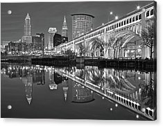 Monochrome Reflection Acrylic Print by Frozen in Time Fine Art Photography