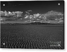 Monochrome Sand Ripples Acrylic Print