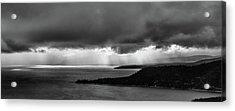 Monochrome Storm Panorama Acrylic Print
