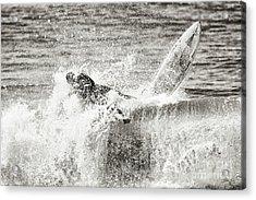 Monochrome Wipeout Acrylic Print by Nicholas Burningham
