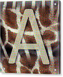 Monogram A Acrylic Print