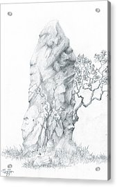 Acrylic Print featuring the drawing Monolith 2 by Curtiss Shaffer