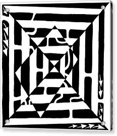 Monolith Maze Optical Illusion Acrylic Print by Yonatan Frimer Maze Artist