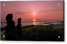 Acrylic Print featuring the photograph Monoliths At Sunset by Lori Seaman