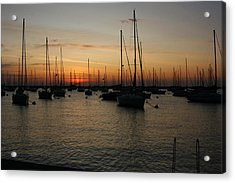 Monroe Harbor Sunrise Acrylic Print by Gregory Jeffries