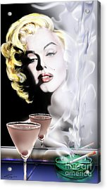 Monroe-seeing Beyond Smoke-n-mirrors Acrylic Print by Reggie Duffie