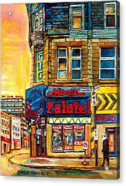 Monsieur Falafel Acrylic Print by Carole Spandau