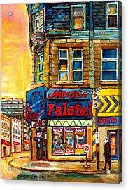Monsieur Falafel Acrylic Print