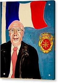 Monsieur Jean Claude Darque. Le Maire De Auchy Les Hesdin Acrylic Print