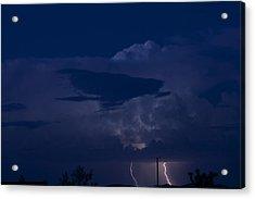 Monsoon Cloud And Lightening 20 Acrylic Print by Carolina Liechtenstein