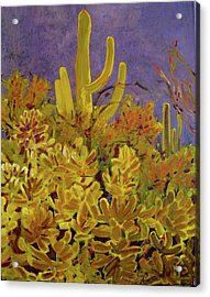 Acrylic Print featuring the painting Monsoon Glow by Julie Todd-Cundiff
