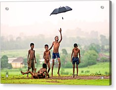 Monsoon Mania Acrylic Print by Pramod Bansode