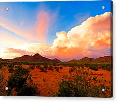 Monsoon Storm Sunset Acrylic Print