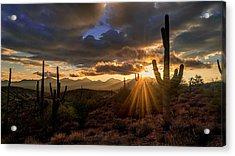 Acrylic Print featuring the photograph Monsoon Sunburst by Anthony Citro