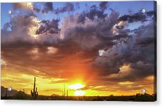 Acrylic Print featuring the photograph Monsoon Sunset by Anthony Citro