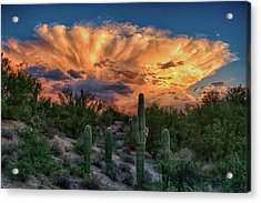 Monsoon Sunset Acrylic Print