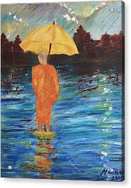 Monsoon Walk Acrylic Print by Neena Alapatt