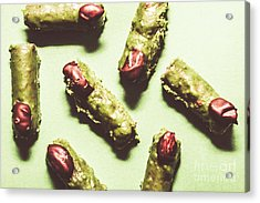 Monster Fingers Halloween Candy Acrylic Print by Jorgo Photography - Wall Art Gallery