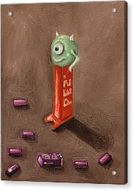 Monster Pez Acrylic Print by Leah Saulnier The Painting Maniac