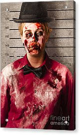 Monster Police Mug Shot. Creepy Criminal Acrylic Print by Jorgo Photography - Wall Art Gallery