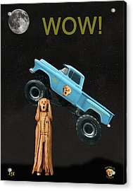 Monster Truck The Scream World Tour Wow Acrylic Print by Eric Kempson
