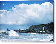 Monster Wave Waimea Bay Acrylic Print by Thomas R Fletcher